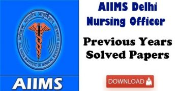 AIIMS Delhi Previous Papers With Solutions