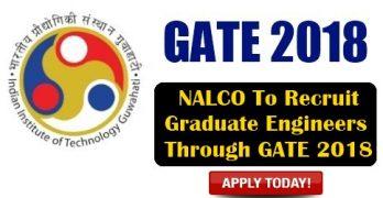 NALCO To Recruit Through GATE 2018