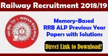 RRB ALP Previous Papers with Answers