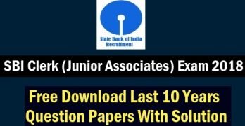 SBI Clerk Previous Question Paper with Solution