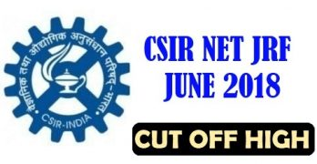CSIR NET June 2018 Cut off