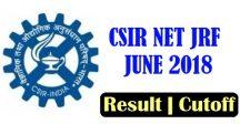 CSIR NET JUNE 2018 RESULT