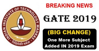 GATE 2019 Changes