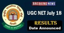 UGC NET JULY Result 2018