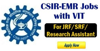 CSIR-EMR Job With VIT University