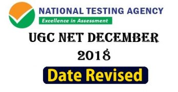 UGC NET DEC 2018 Date Revised