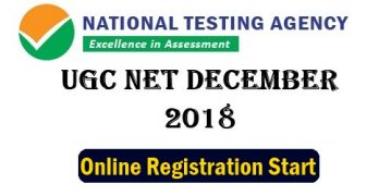 UGC NET Dec 2018 Registration Form