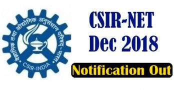CSIR NET Dec Application Form