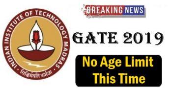 GATE 2019 No Age Limit