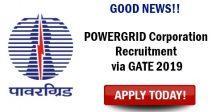 POWERGRID Recruitment via GATE 2019