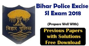 Bihar Police Excise SI Previous Papers