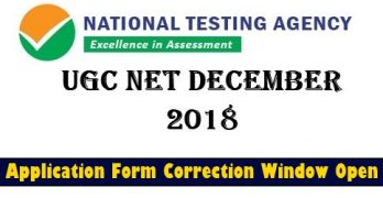 UGC NET Dec 2018 Correction Windows