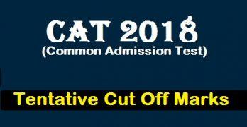 CAT Cut off 2018
