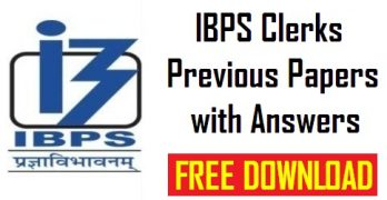 IBPS Clerk Previous Papers with Answers