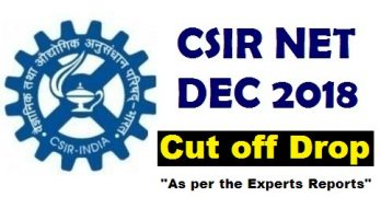 CSIR NET Cut Off Dec 2018