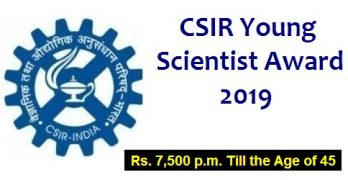 CSIR Young Scientist Award 2019
