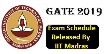 GATE 2019 Exam Schedule