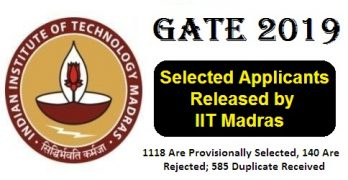 GATE 2019 Selected Applications