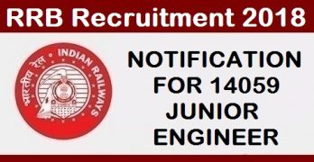 RRB JE NOTIFICATION FOR 14059 Post