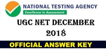 UGC NET 2018 Official Answer Key