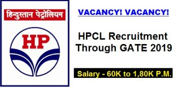 HPCL Recruitment Through GATE 2019
