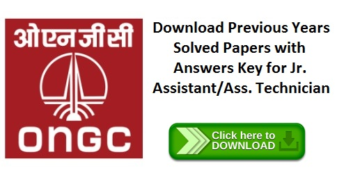 ONGC Previous Year Question Papers For Junior Assistant