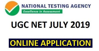 UGC NET July 2019 Application Form