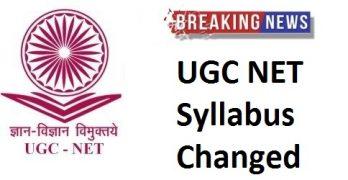 UGC NET Syllabus Changed
