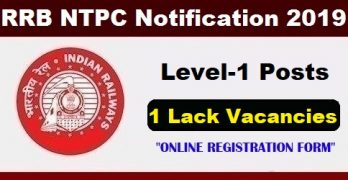 RRB NTPC 2019 Application Form Level 1