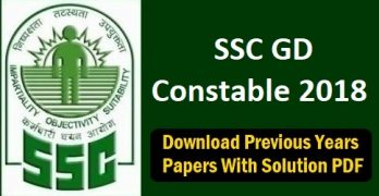 SSC GD Constable Previous Paper with Answer