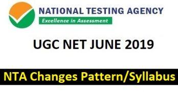 UGC NET JUNE 2019 Changes