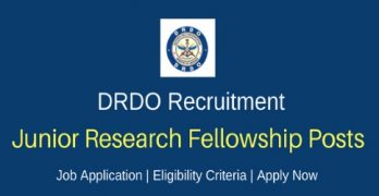 DRDO Recruitment 2019 for Research Fellowship