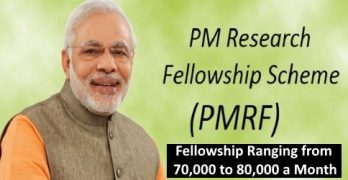 Prime Minister's Research Fellowship 2019
