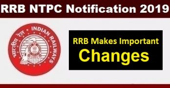 RRB NTPC 2019 Changes