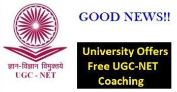 UGC NET Free Coaching