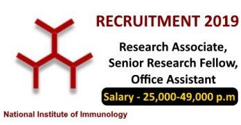 NII Recruitment for SRF/RA/OA