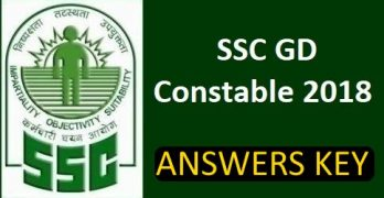 SSC GD Constable 2018 Answer Key