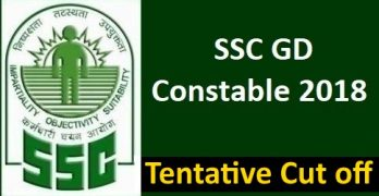 SSC GD Constable 2018 Cutoff