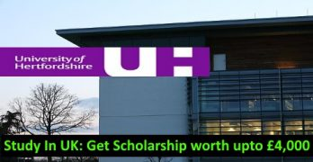 Study In UK With Scholarship upto £4000