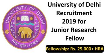 University of Delhi Recruitment For JRF