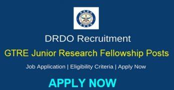 DRDO – GTRE Junior Research Fellowship Posts