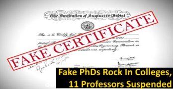 Fake PhD Certificates 11 Professors Suspended