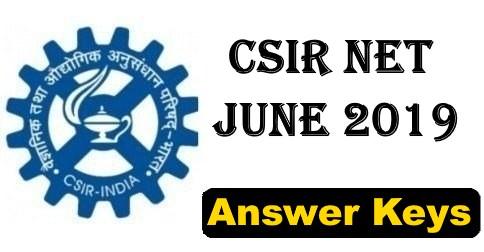 CSIR NET June 2019 Answer Key