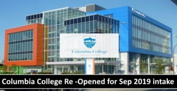 Columbia College Re -Opened for Sep 2019 Intake