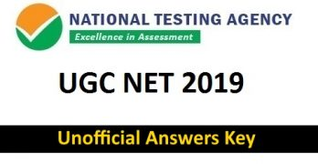 UGC NET JUNE 2019 Answer Key