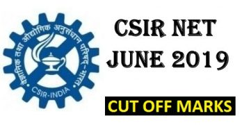 CSIR NET June 2019 Cut off
