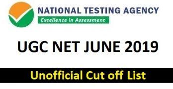 UGC NET 2019 Cut off