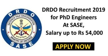 DRDO Recruitment For PhD Engineers