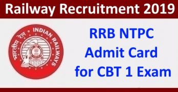 RRB NTPC Admit Card 2019
