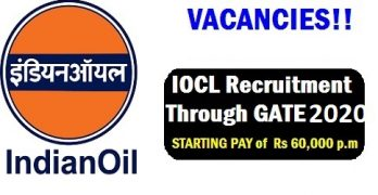 IOCL Recruitment Through GATE 2020